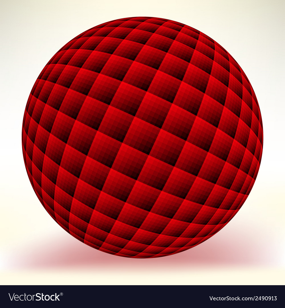 Red glossy sphere isolated on white eps 8 vector | Price: 1 Credit (USD $1)