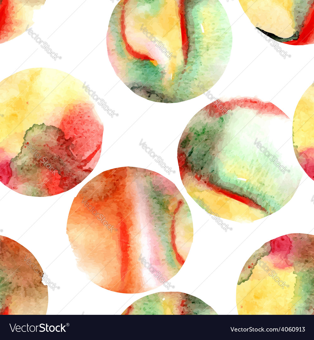 Seamless pattern of watercolor circles vector | Price: 1 Credit (USD $1)