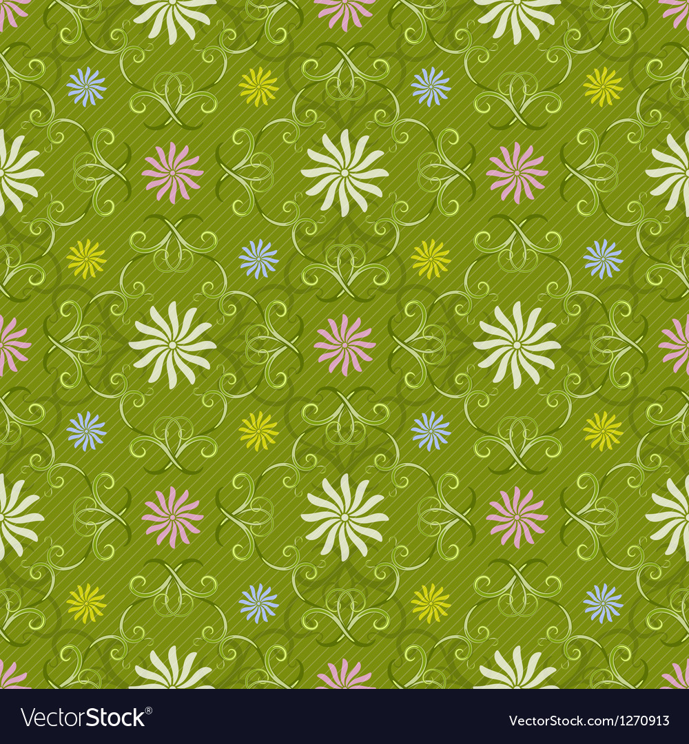 Seamless spring green pattern vector | Price: 1 Credit (USD $1)