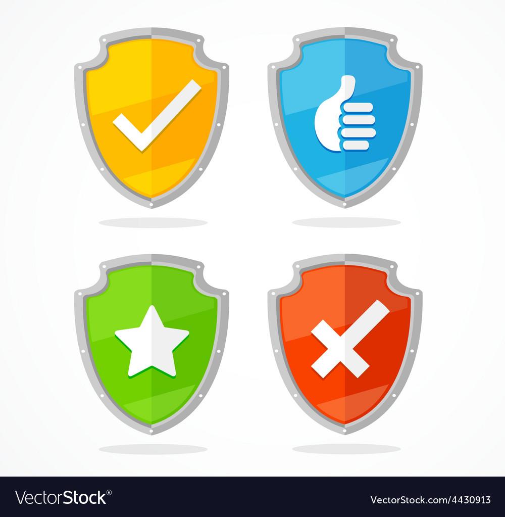 Shield set vector | Price: 1 Credit (USD $1)