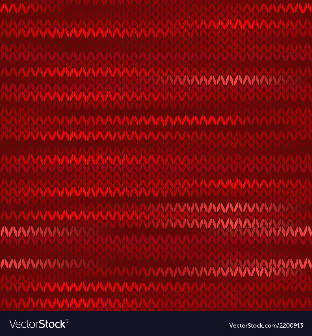 Style seamless knitted melange pattern red color vector | Price: 1 Credit (USD $1)