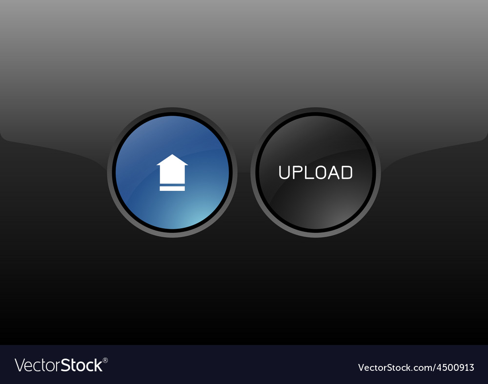 Upload button vector | Price: 1 Credit (USD $1)