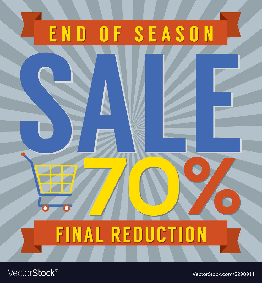 70 percent end of season sale vector | Price: 1 Credit (USD $1)