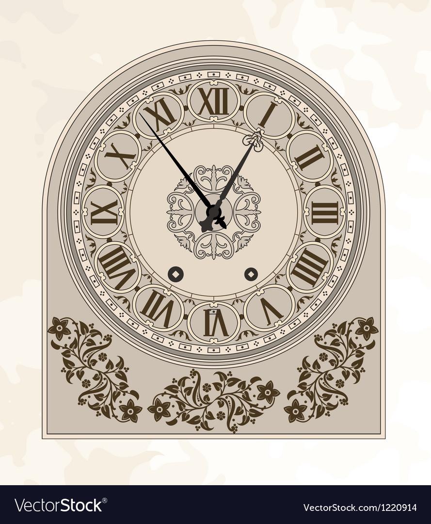 Antique clock vector   Price: 1 Credit (USD $1)
