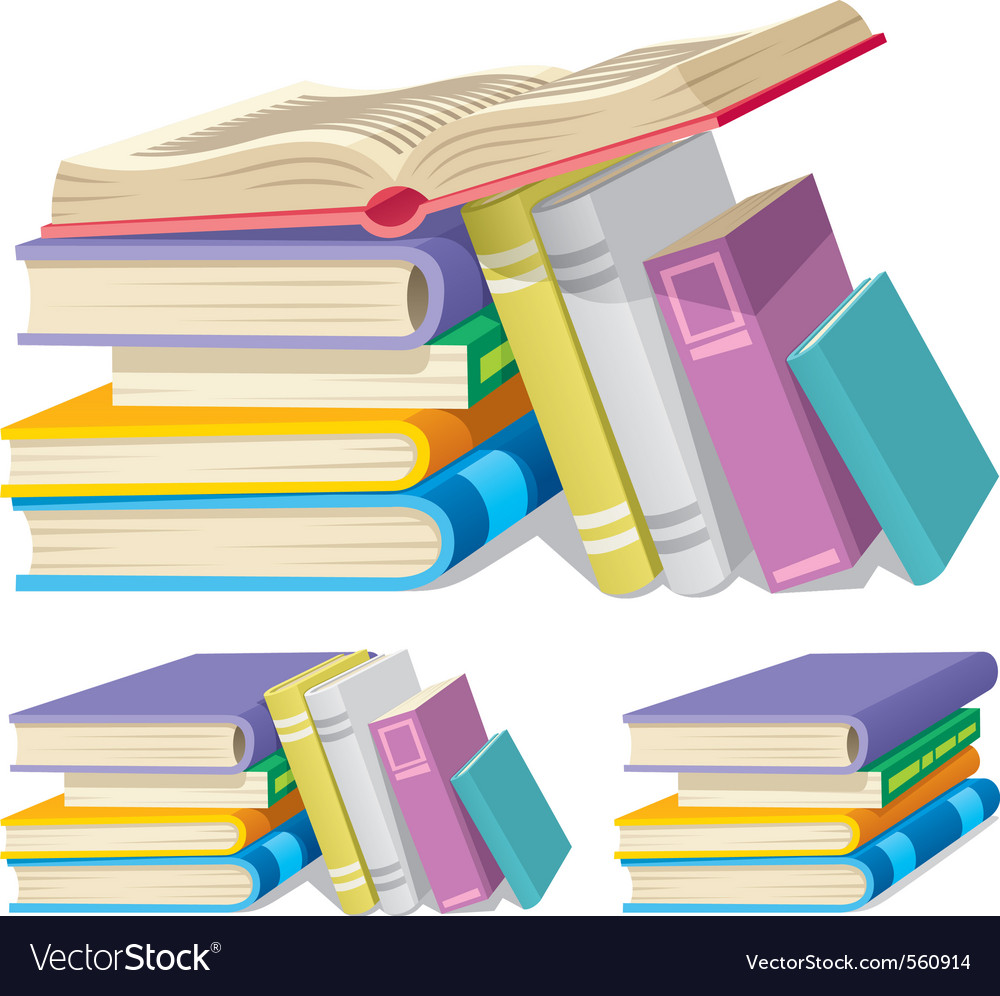 Book pile vector | Price: 1 Credit (USD $1)