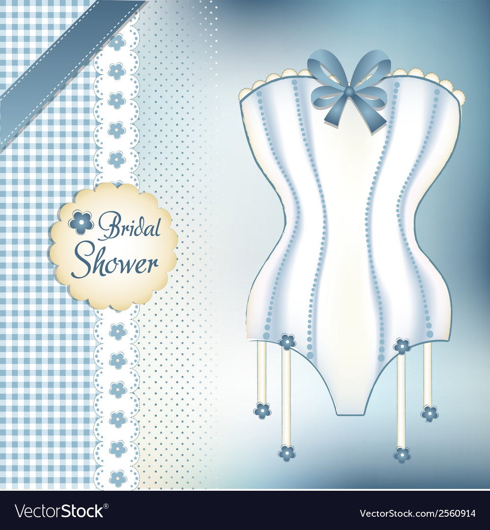 Bridal shower greeting card vector | Price: 1 Credit (USD $1)