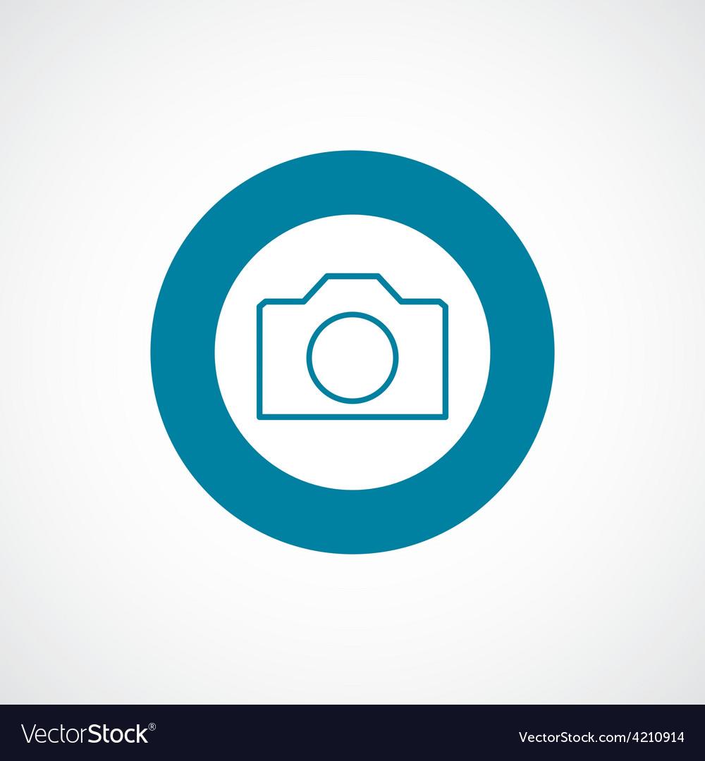 Camera icon bold blue circle border vector | Price: 1 Credit (USD $1)