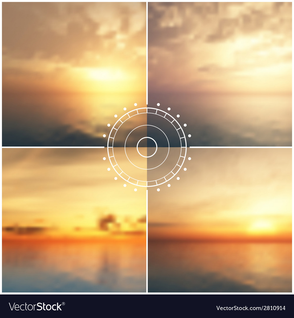 Ocean sunset blurred backgrounds vector | Price: 1 Credit (USD $1)