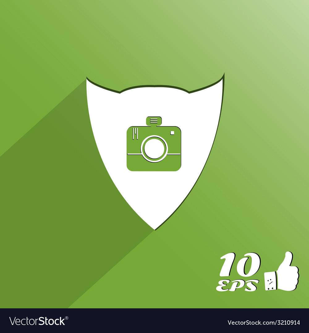 Photo camera icon vector | Price: 1 Credit (USD $1)