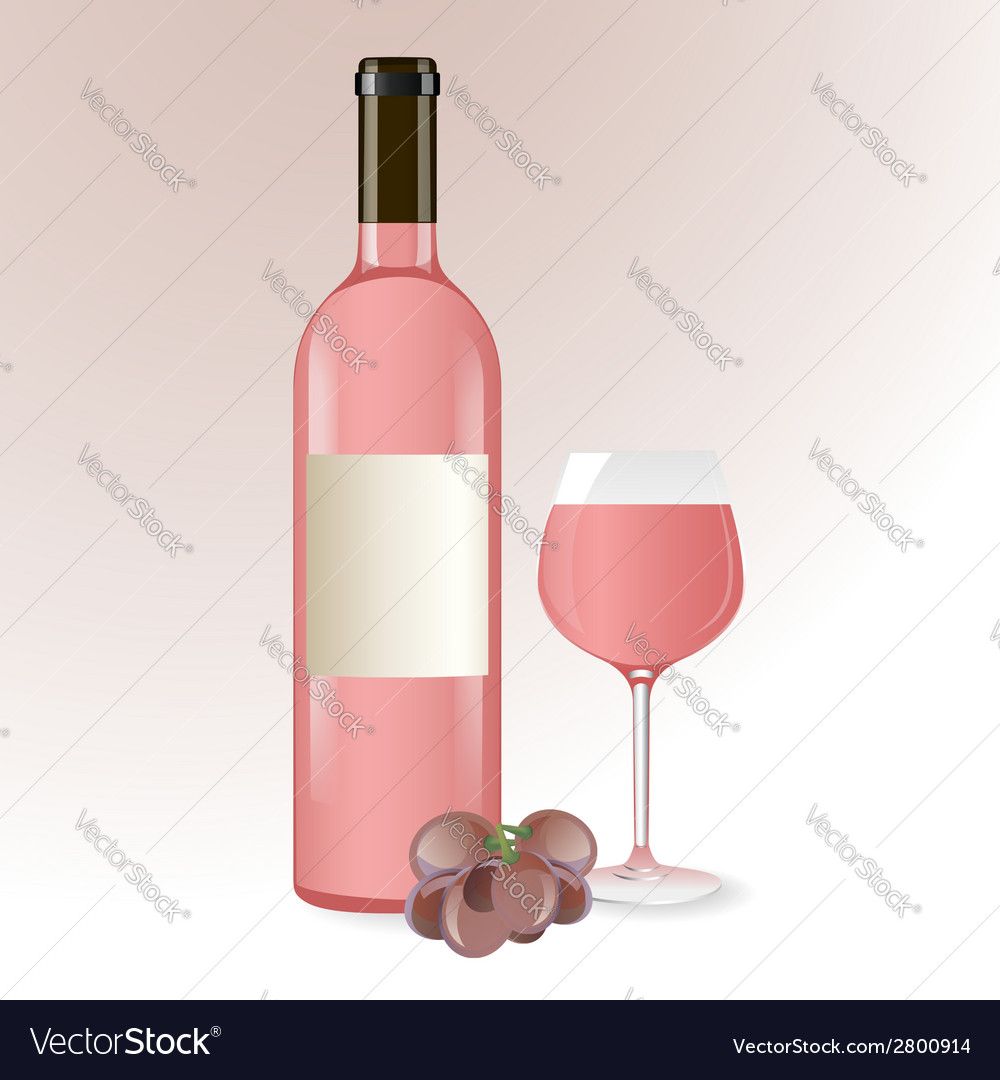 Pink wine vector | Price: 1 Credit (USD $1)