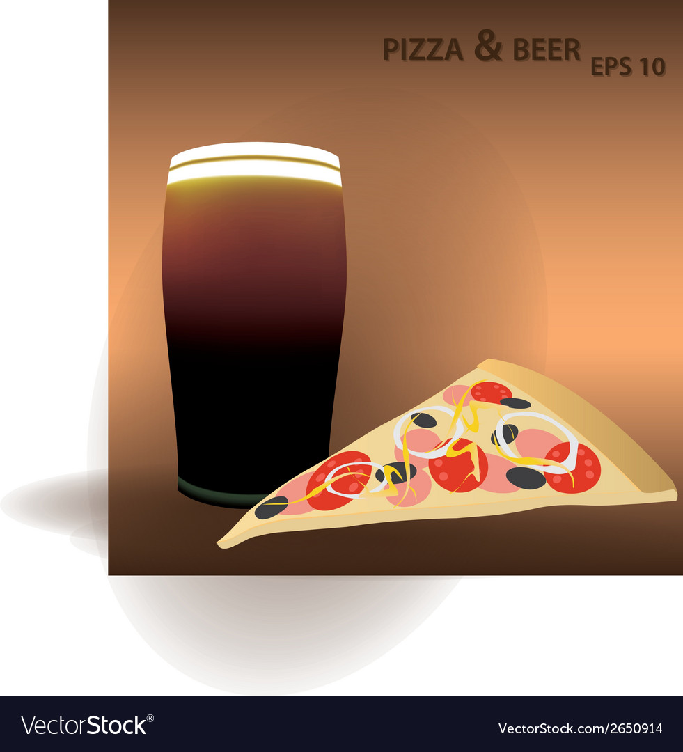 Pizza and beer eps10 vector | Price: 1 Credit (USD $1)