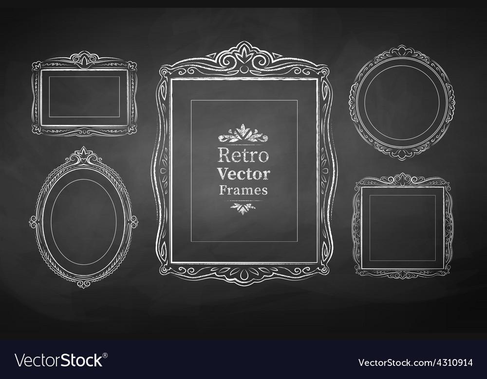 Vintage baroque frames vector | Price: 1 Credit (USD $1)