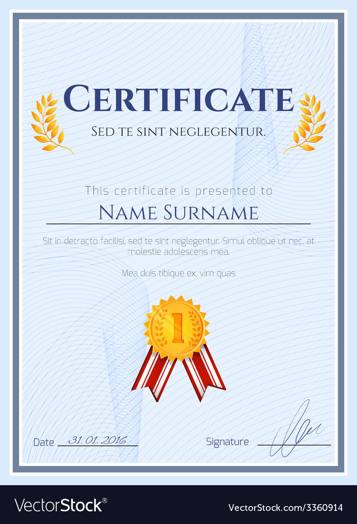 Winner certificate with seal vector | Price: 1 Credit (USD $1)
