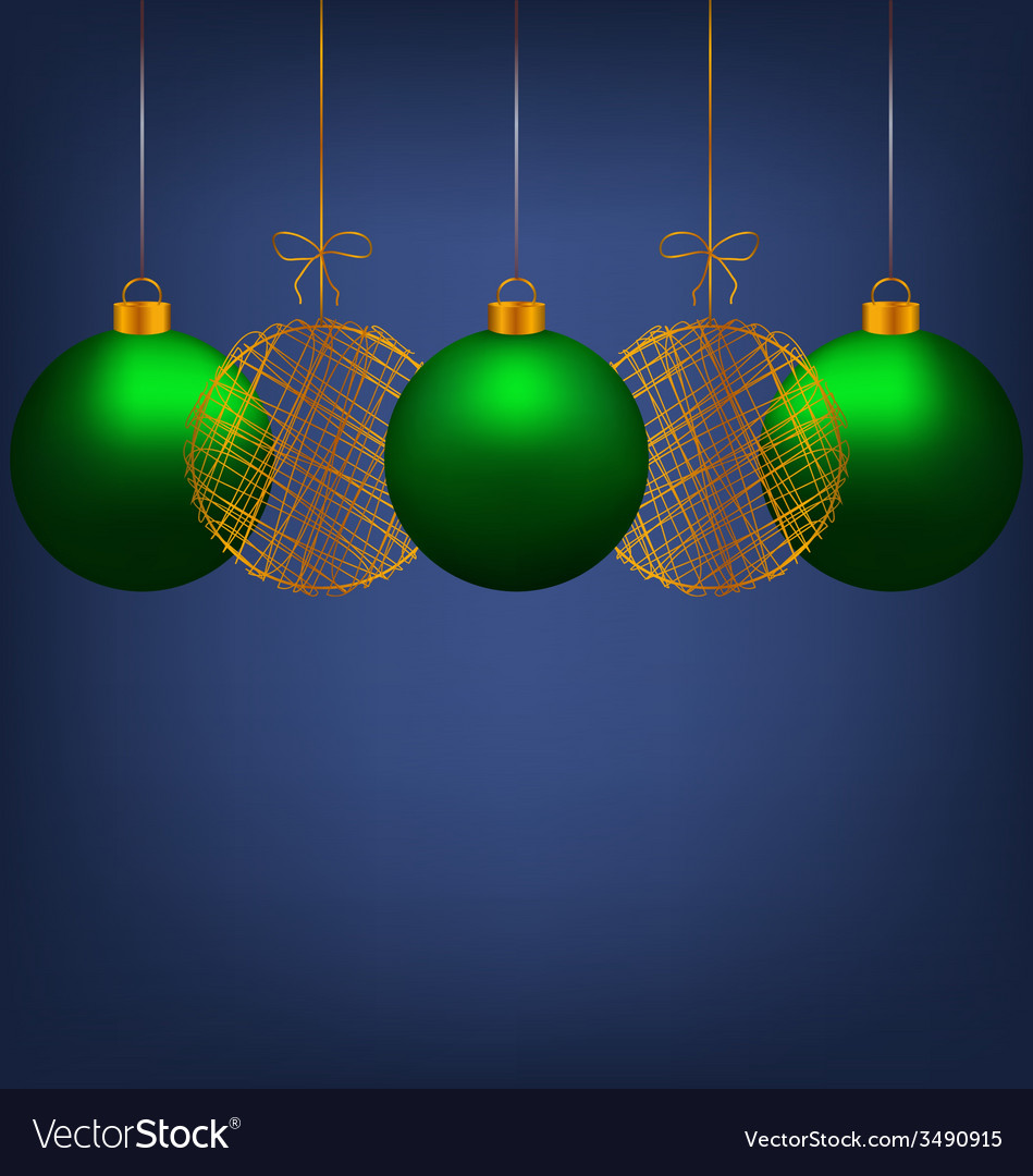 Christmas balls on blue vector | Price: 1 Credit (USD $1)