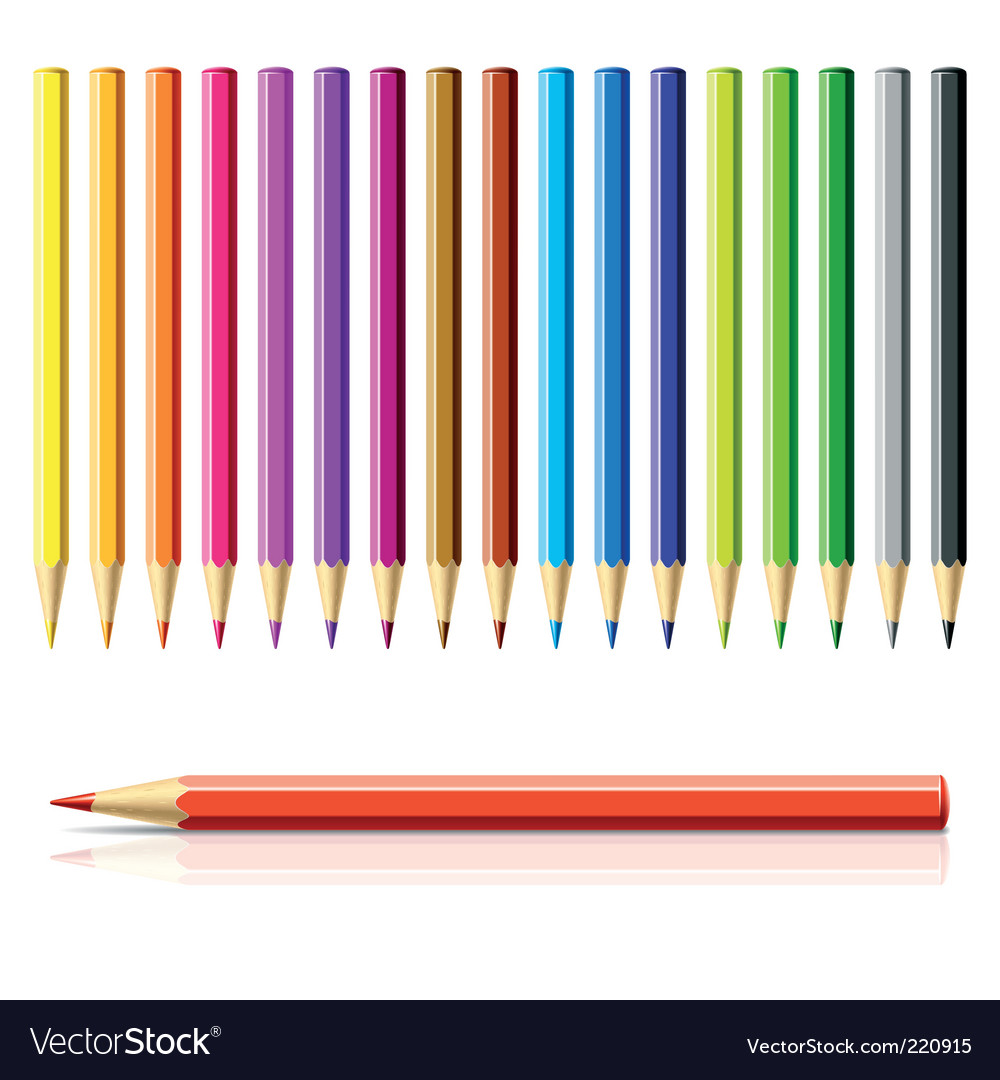 Color pencils vector | Price: 3 Credit (USD $3)