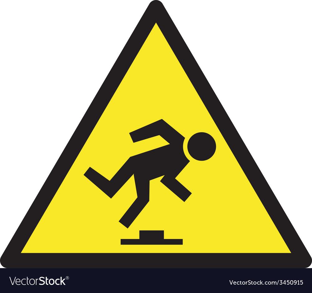 Danger tripping hazard safety sign vector | Price: 1 Credit (USD $1)