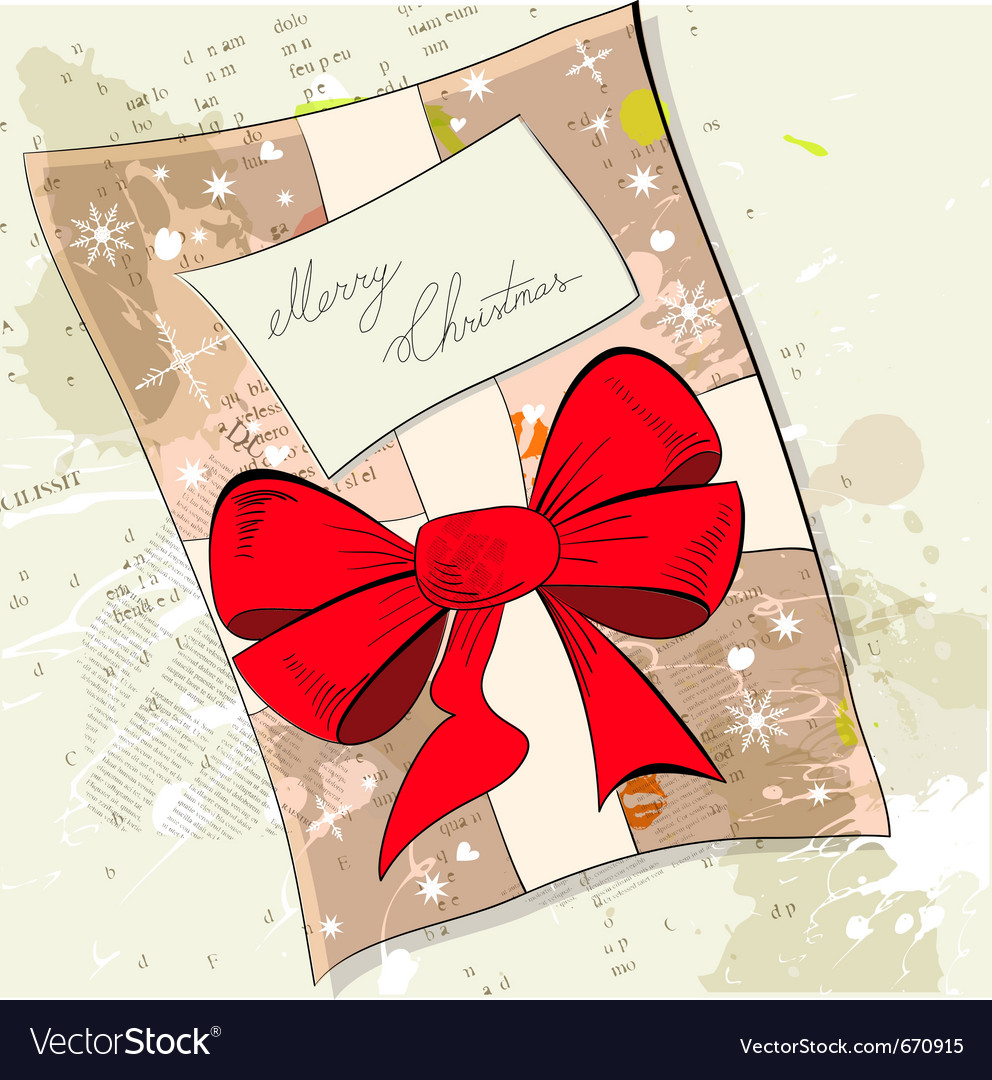 Gift christmas card vector | Price: 1 Credit (USD $1)