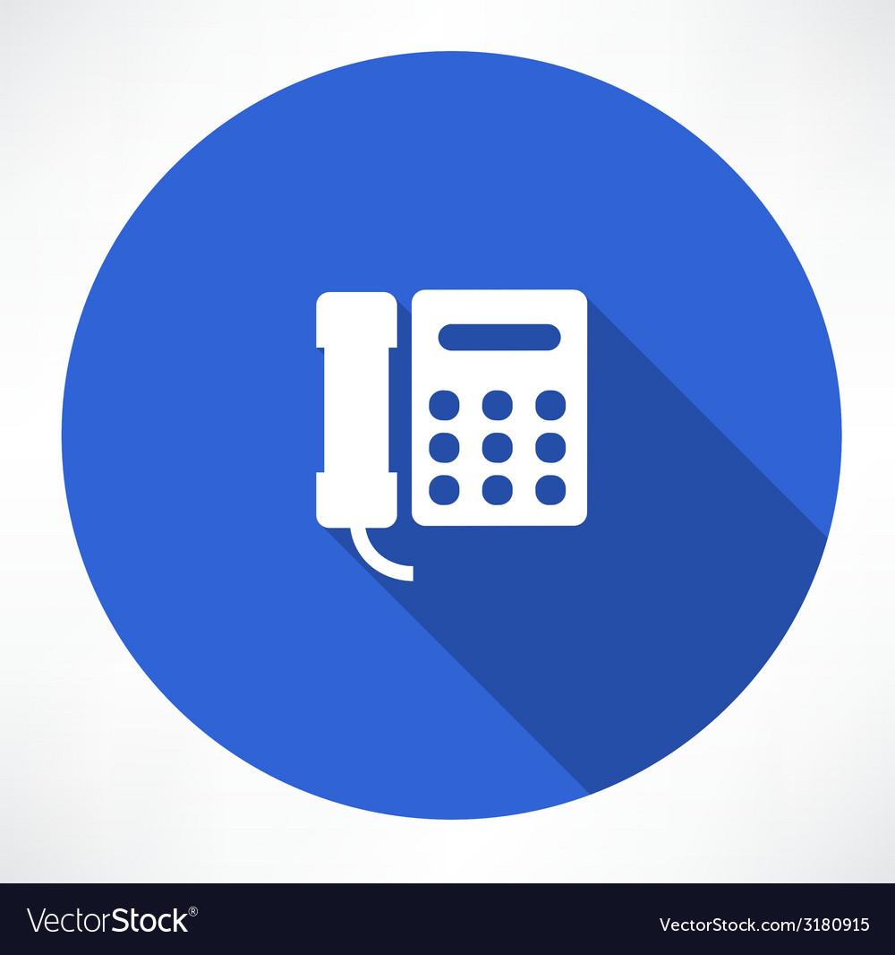 Landline phone vector | Price: 1 Credit (USD $1)