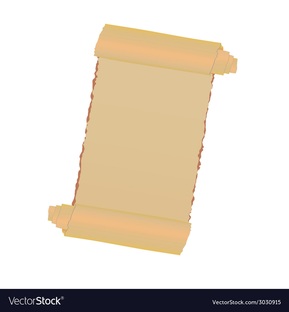 Old paper roll vector | Price: 1 Credit (USD $1)