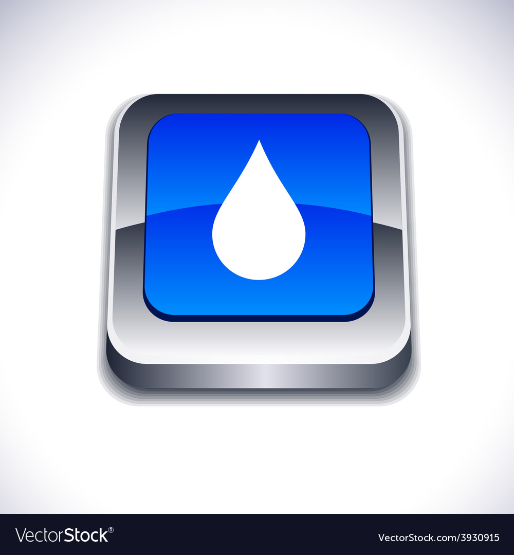 Rain 3d button vector | Price: 1 Credit (USD $1)