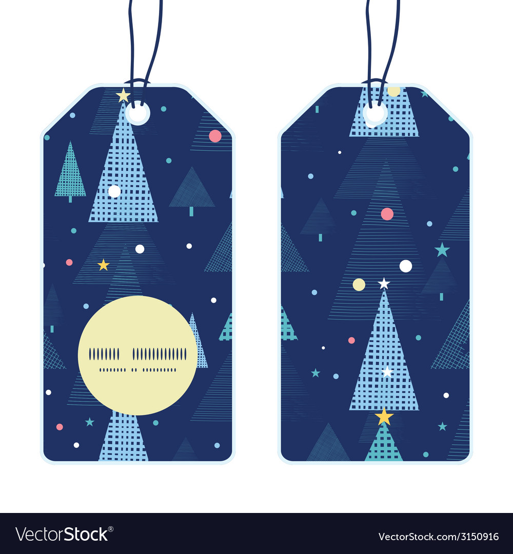 Abstract holiday christmas trees vertical round vector | Price: 1 Credit (USD $1)