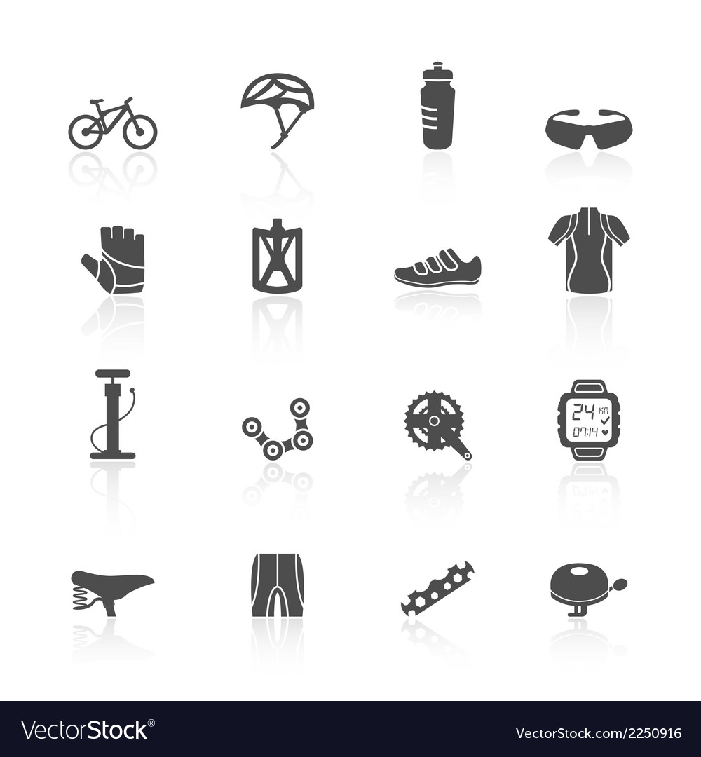 Bike icons set vector | Price: 1 Credit (USD $1)