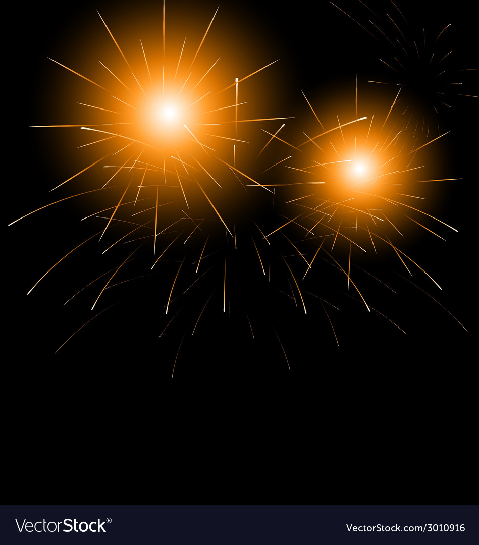 Christmas dark background with fireworks vector | Price: 1 Credit (USD $1)
