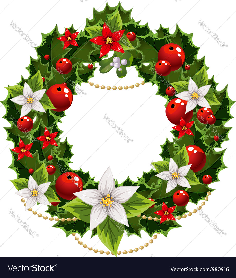 Christmas green and red embellishment vector   Price: 3 Credit (USD $3)