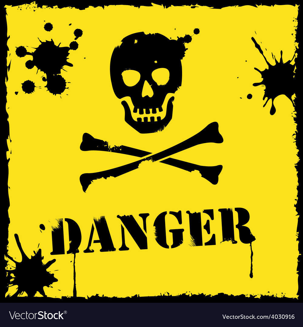 Danger icon yellow and black vector | Price: 1 Credit (USD $1)