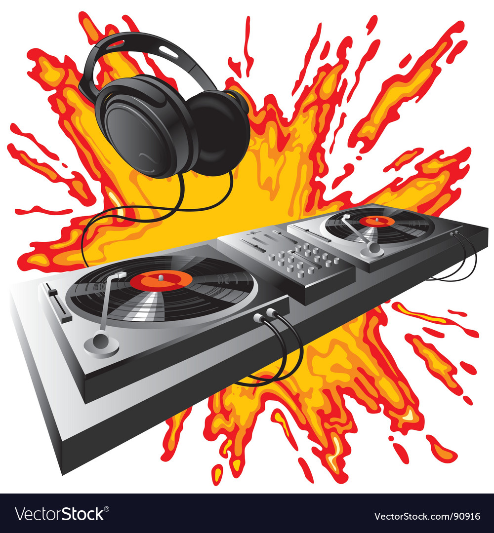 Dj control panel vector | Price: 3 Credit (USD $3)
