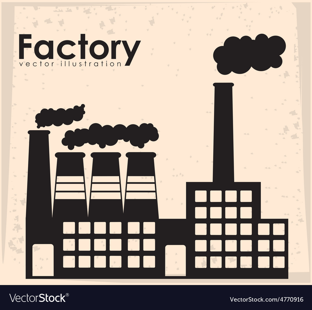 Factory design vector | Price: 1 Credit (USD $1)