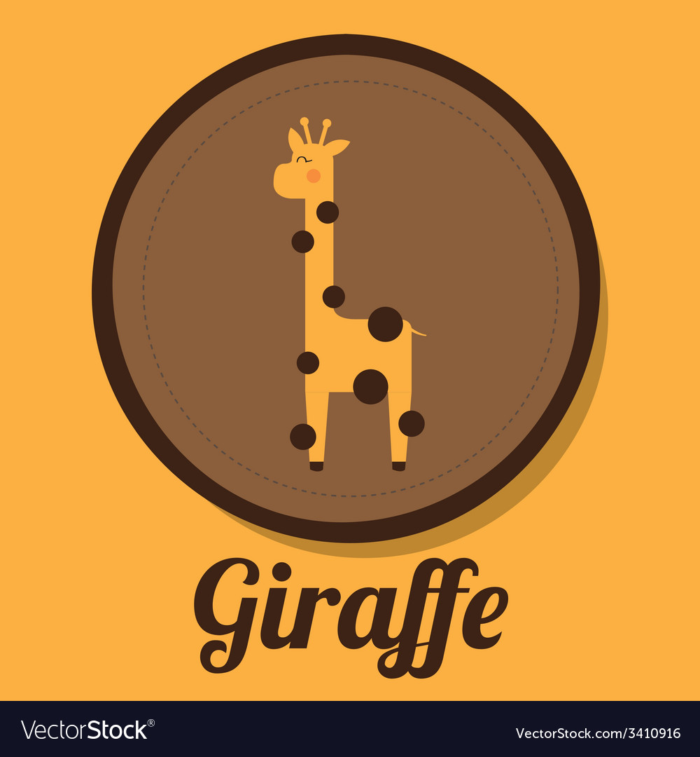 Giraffe design vector   Price: 1 Credit (USD $1)