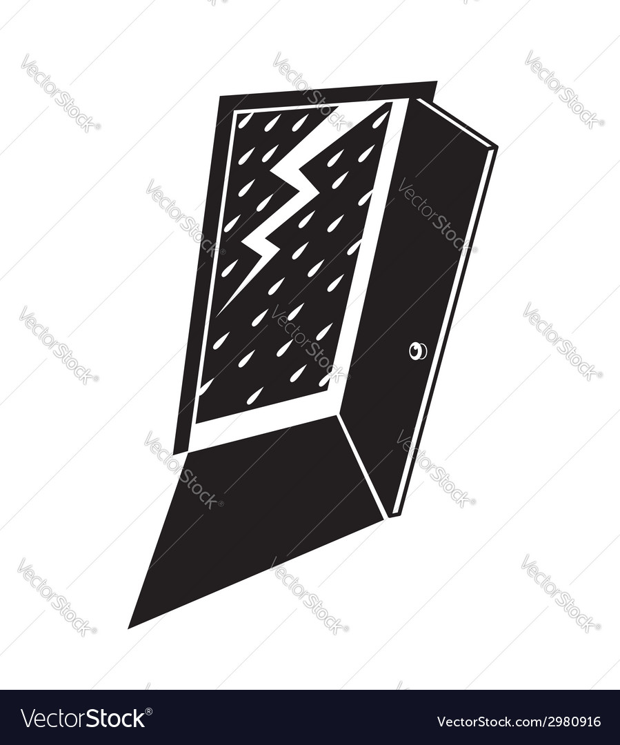 Lightning with the rain vector | Price: 1 Credit (USD $1)