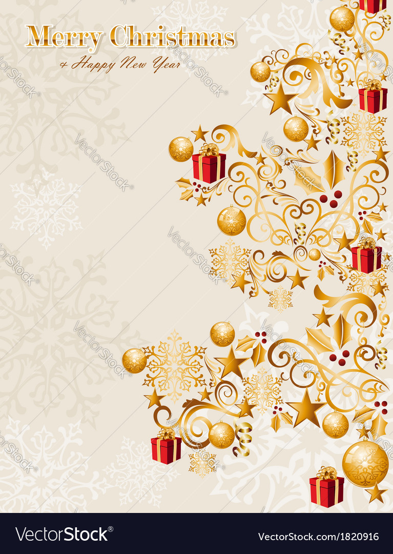Luxury merry christmas tree background eps10 file vector | Price: 1 Credit (USD $1)