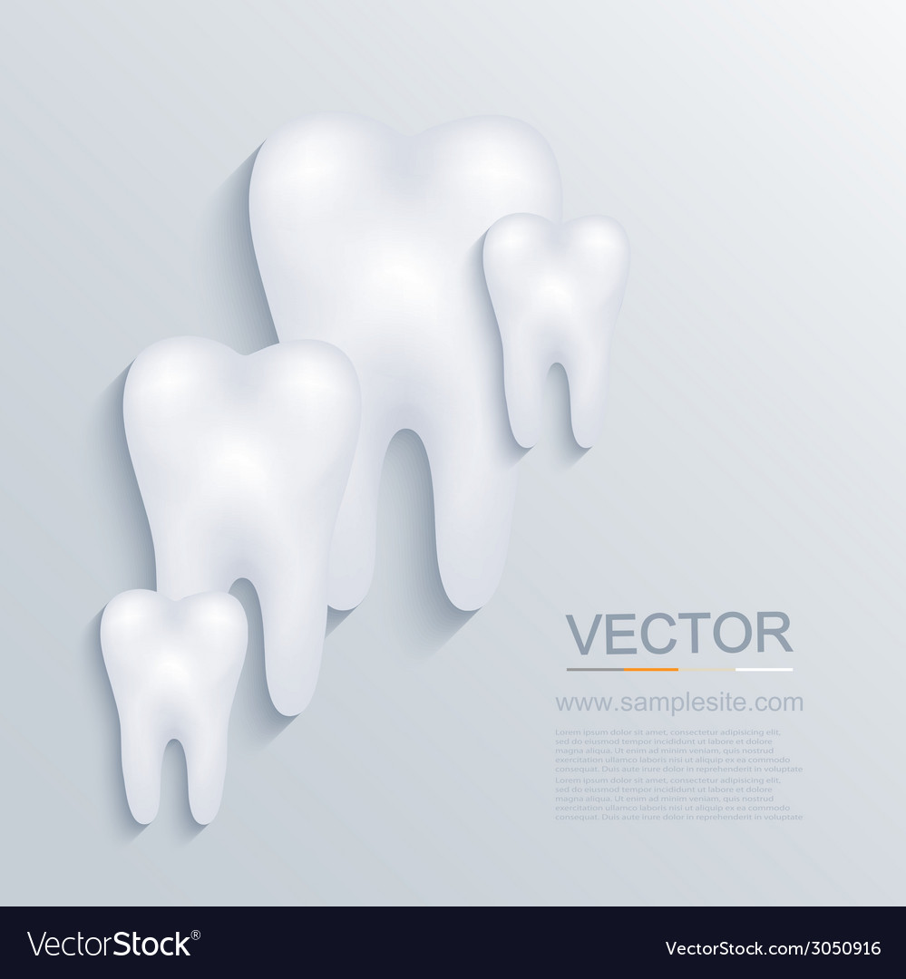 Modern tooth background vector | Price: 1 Credit (USD $1)