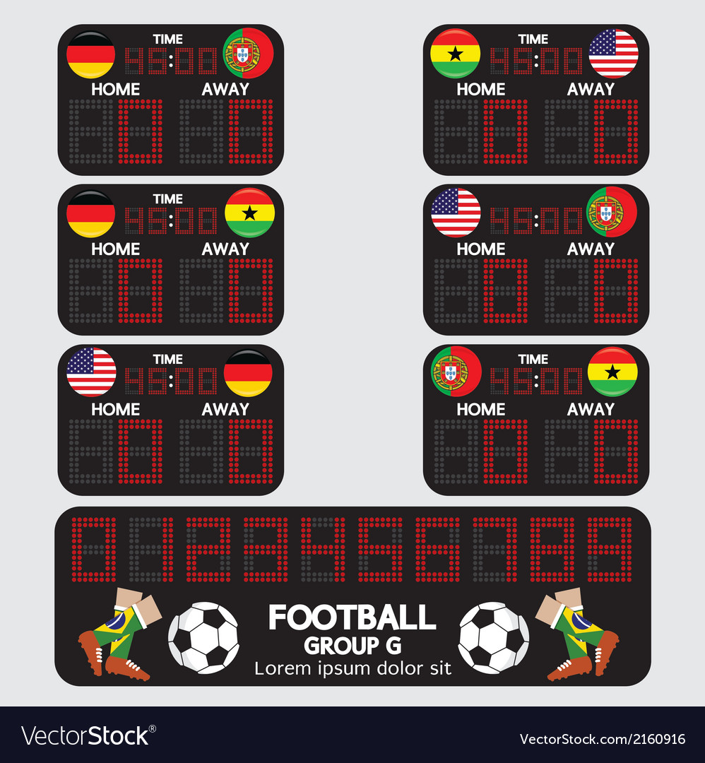 Scoreboard football tournament vector | Price: 1 Credit (USD $1)