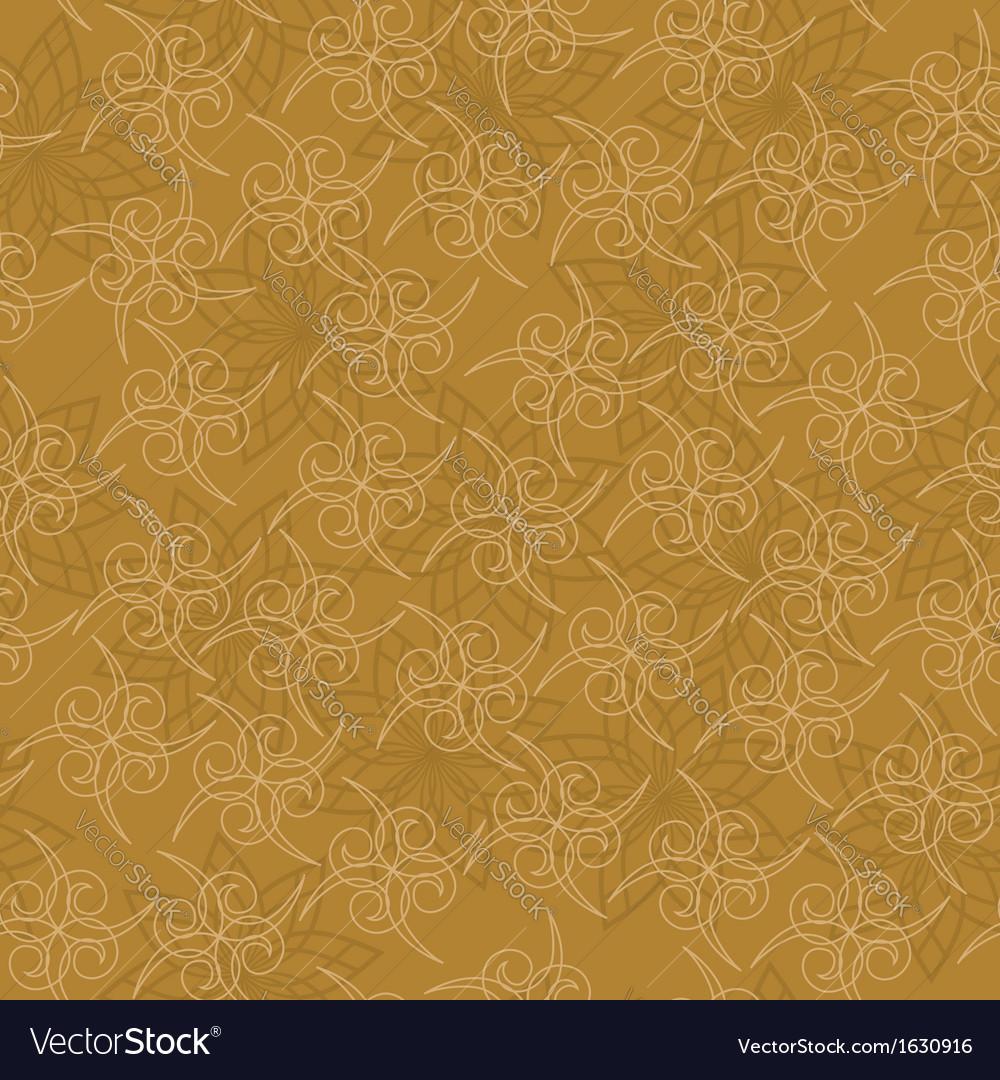 Seamless geometric texture with curls vector | Price: 1 Credit (USD $1)