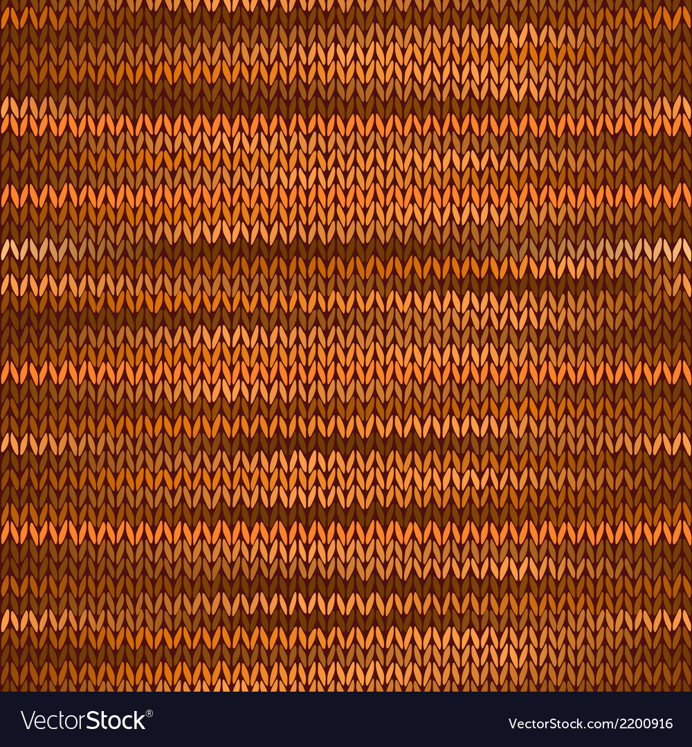 Seamless knitted melange pattern orange brown vector | Price: 1 Credit (USD $1)