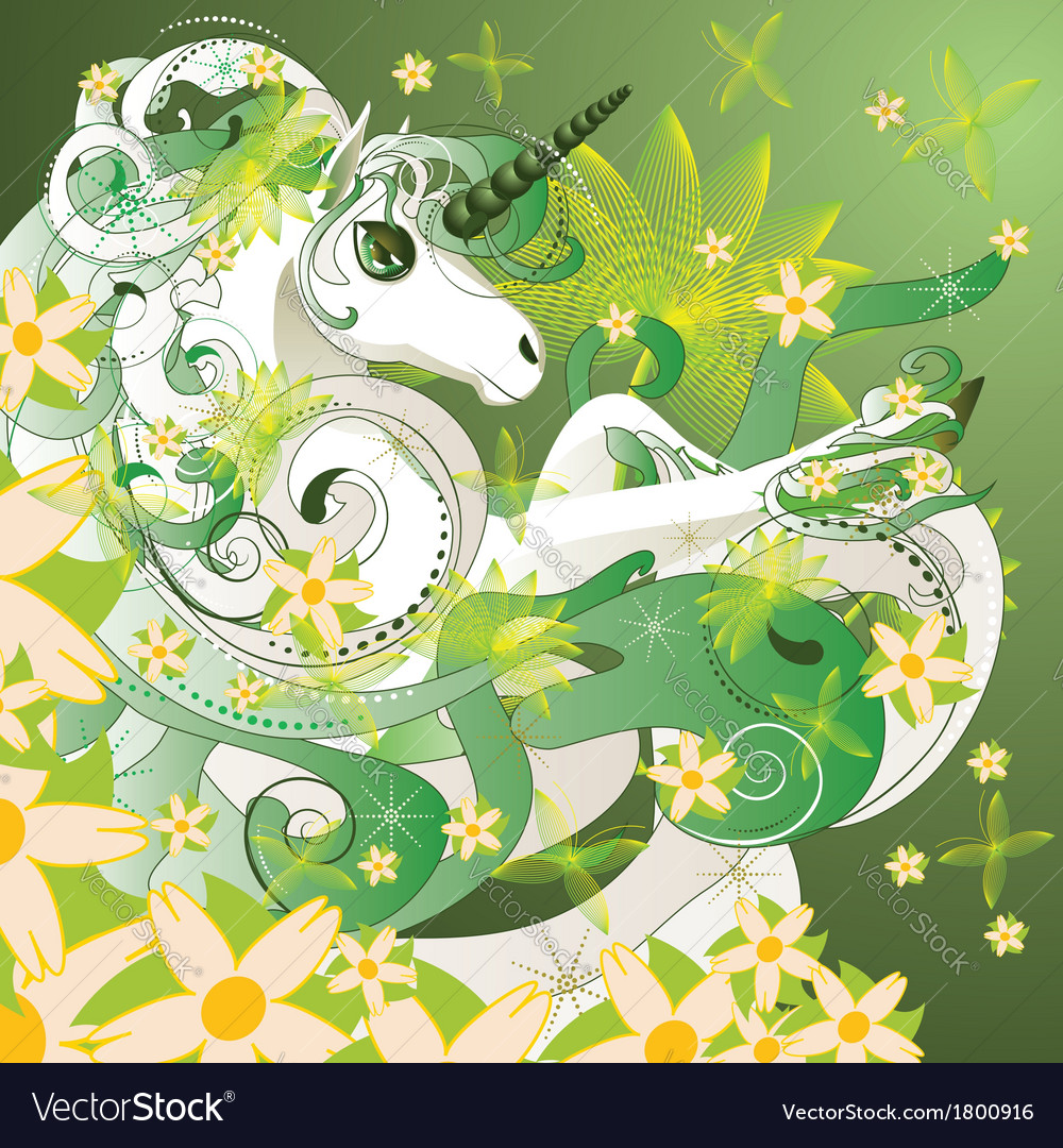 Spring unicorn vector | Price: 1 Credit (USD $1)
