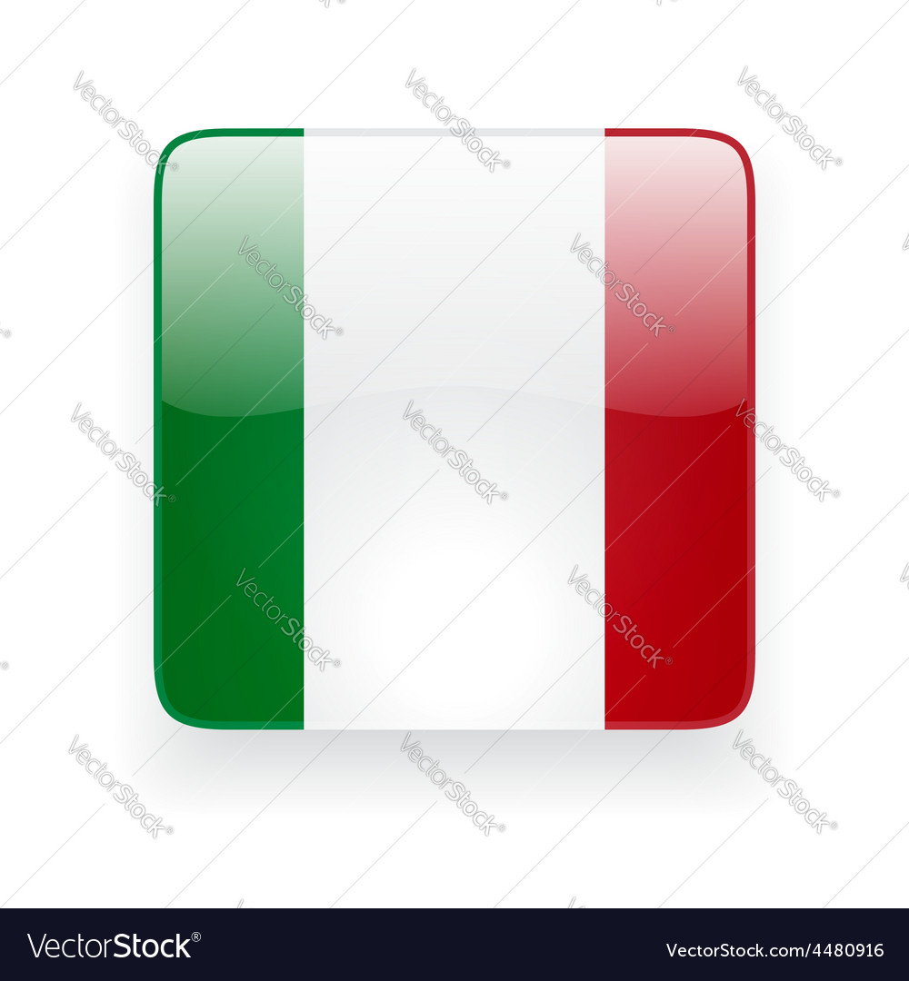 Square icon with flag of italy vector | Price: 1 Credit (USD $1)