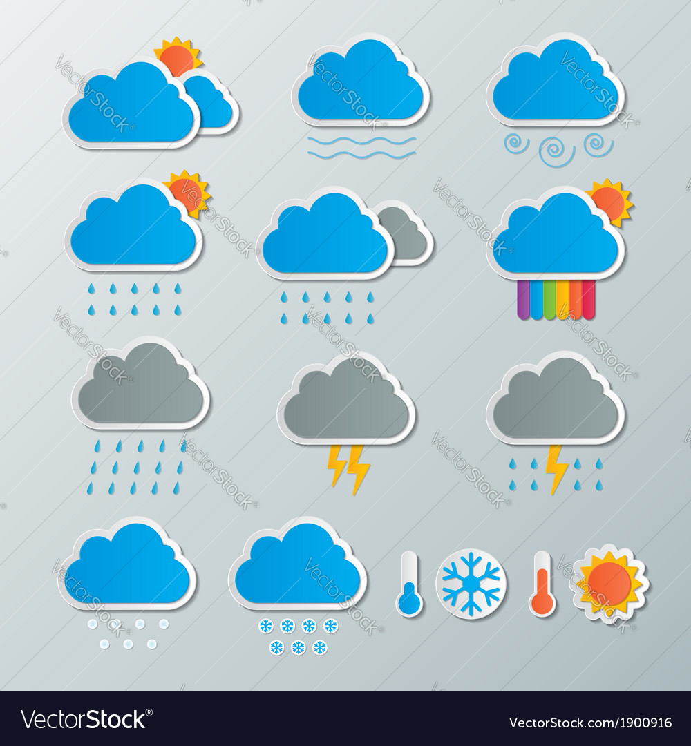 Weather icon vector | Price: 1 Credit (USD $1)