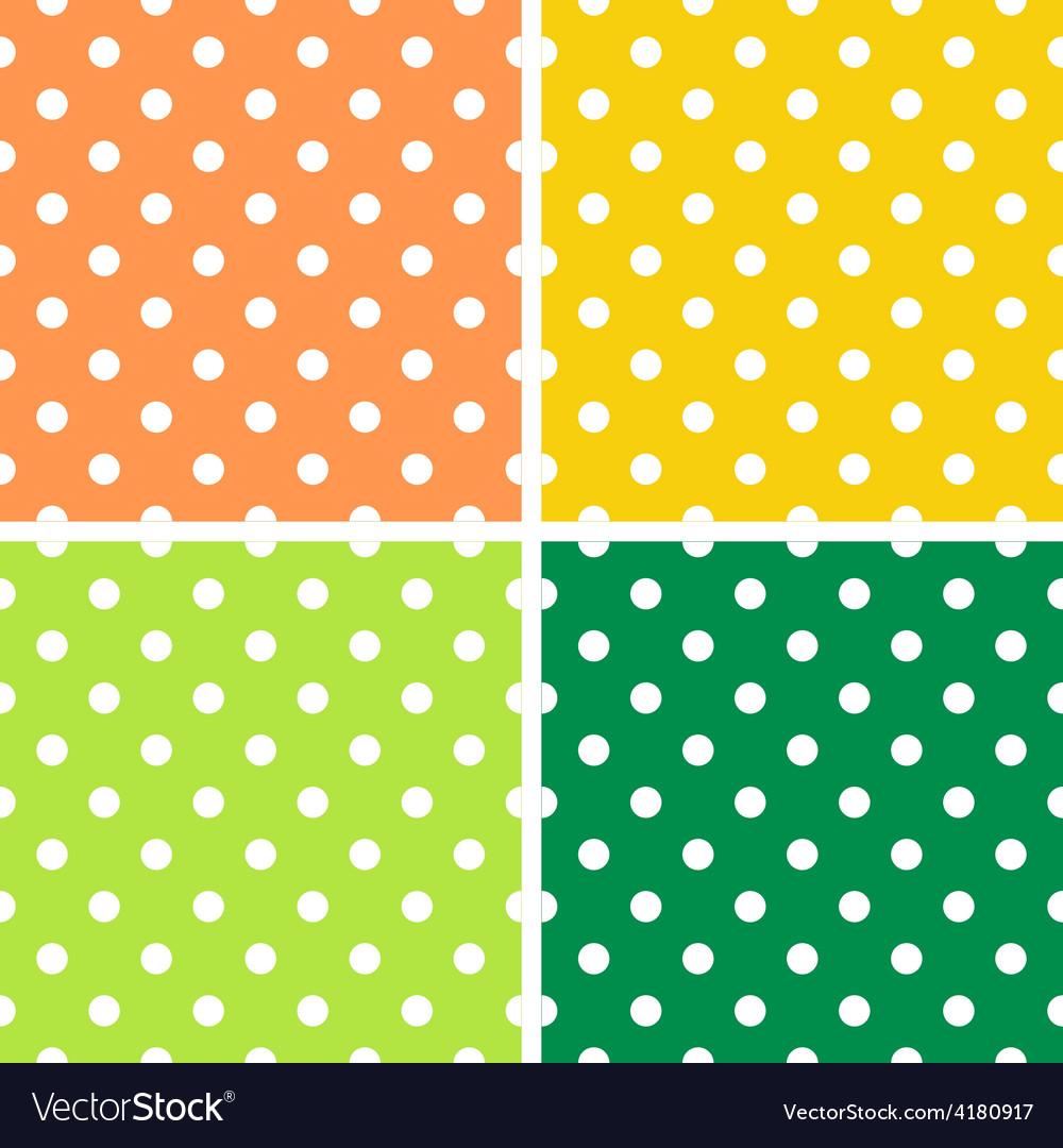 4 dotted textures pack - orange yellow green vector   Price: 1 Credit (USD $1)