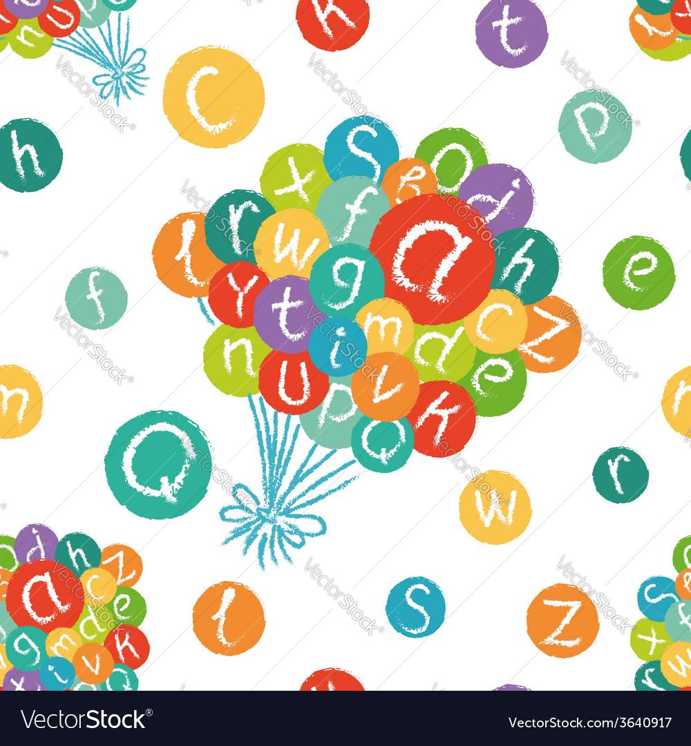 Alphabet balloons pattern vector | Price: 1 Credit (USD $1)