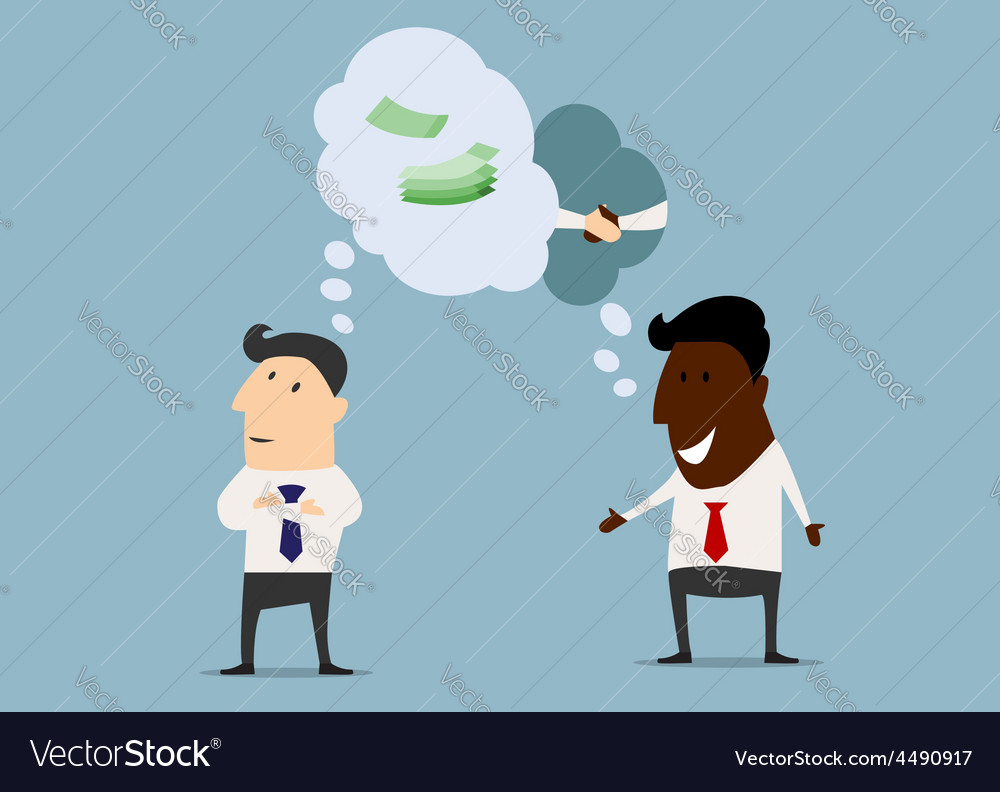 Businessmen discussing partnership with different vector | Price: 1 Credit (USD $1)