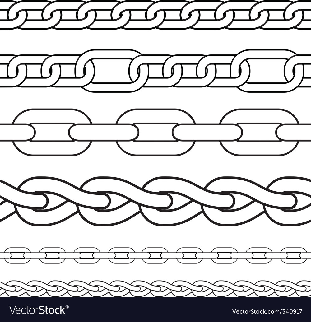 Chain borders vector | Price: 1 Credit (USD $1)