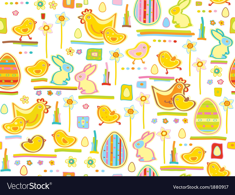 Easter seamless background vector | Price: 1 Credit (USD $1)
