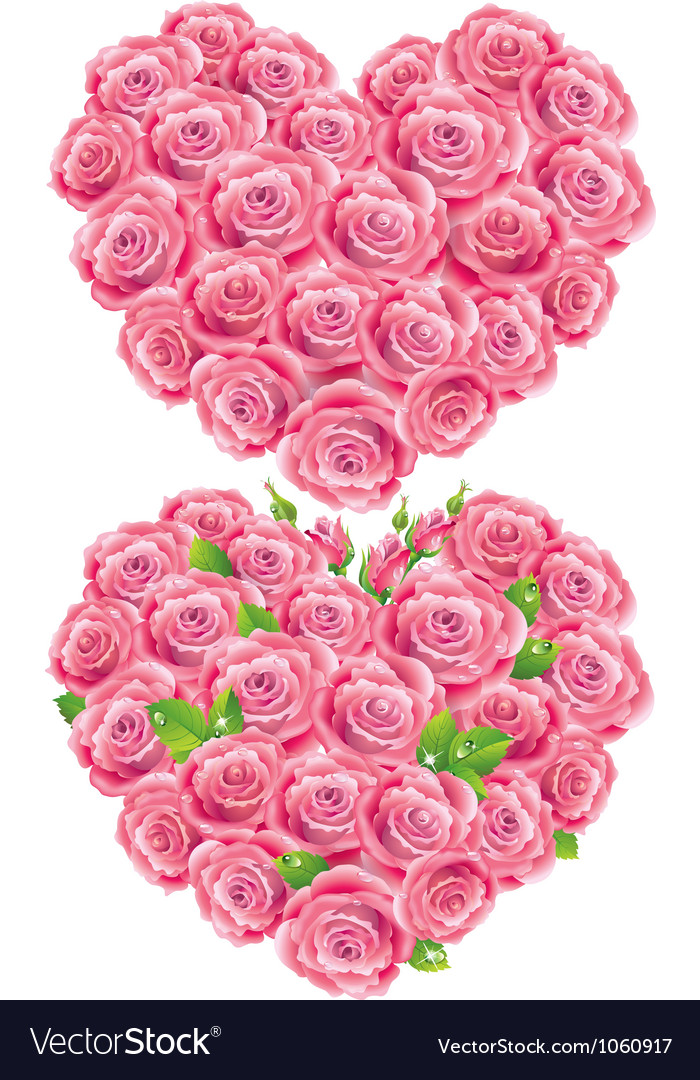 Heart of roses vector | Price: 1 Credit (USD $1)