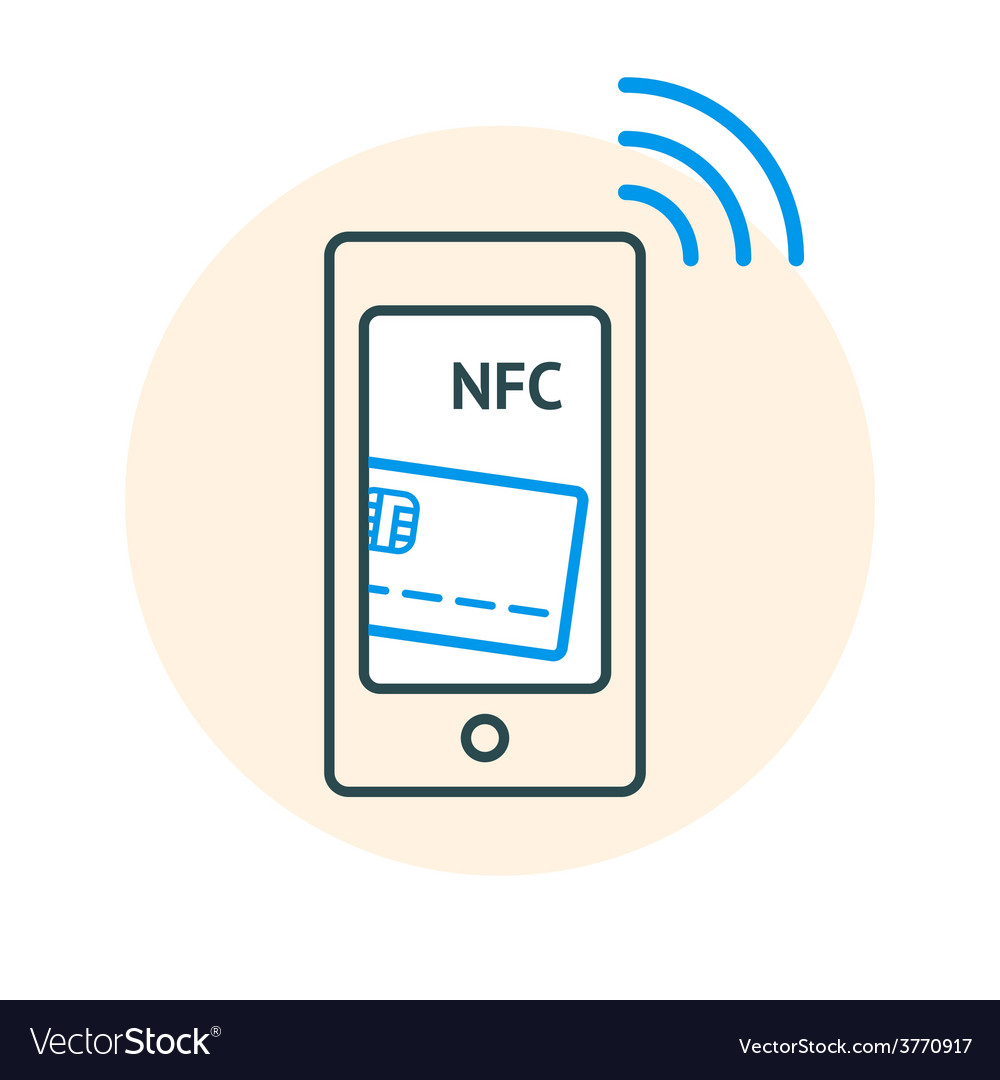 Nfc technology concept vector | Price: 1 Credit (USD $1)