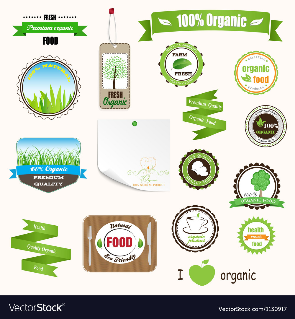 Organic labels logos and stickers vector | Price: 3 Credit (USD $3)