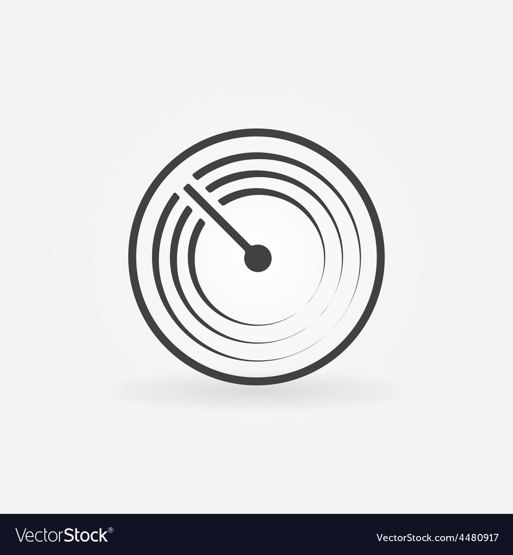 Radar simple icon vector | Price: 1 Credit (USD $1)